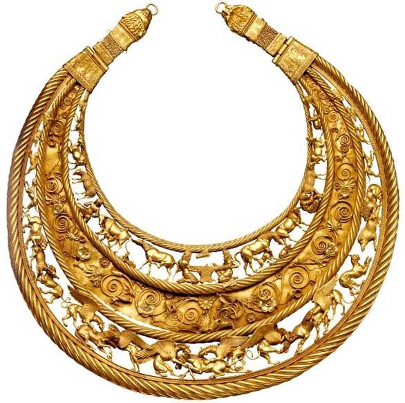 египетский амулет Золотой воротник